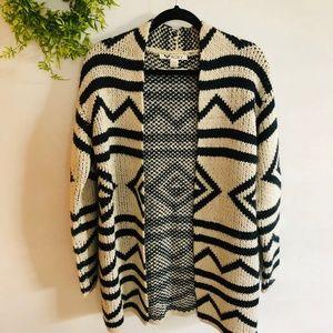 Roxy | Chunky Aztec Tribal Cardigan Sweater
